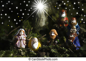 Holy Family Christmas Cards and three wise men - Christmas...
