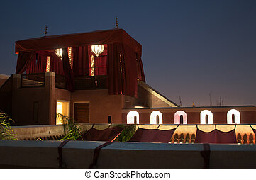 Traditional Riad Tent In Marrakesh At Night - Traditional...