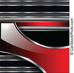 Abstract background black metallic red, elegant glossy.