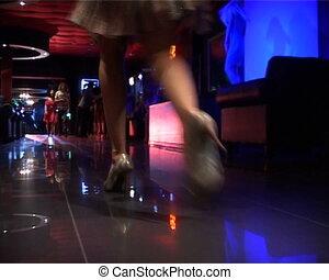 Lady in night club