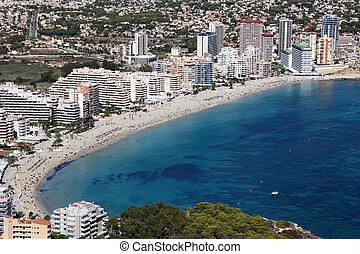 Mediterranean resort Calpe, Costa Blanca Spain