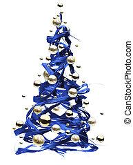 Natale, albero, disegno