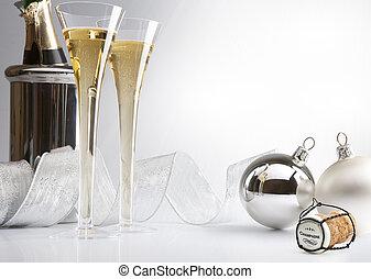 champagne, bouchon