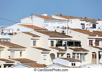 White houses in Altea, Spain
