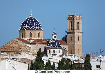 Cathedral of Mediterranean town Altea, Spain