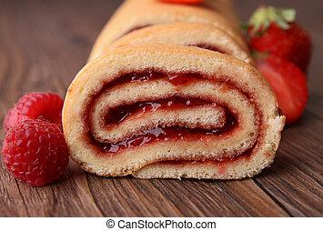 swiss roll - fruit swiss roll