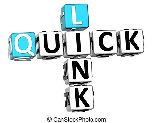 3D Quick Link Crossword