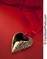 Art Golden Heart