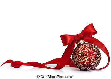 rojo, navidad, Pelota