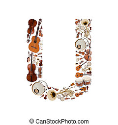 Musical instruments letter