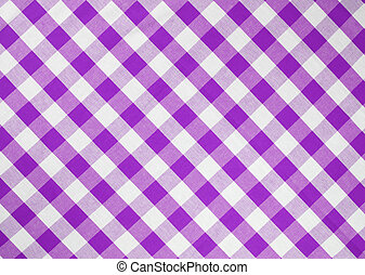 light violet checked fabric tablecloth
