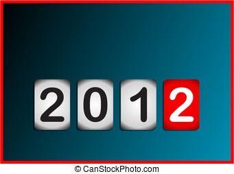 2012 counter blue background