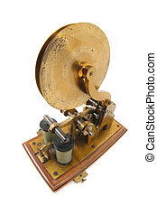 old telegraph isolated on the white background