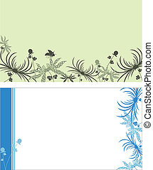 Visit cards - Some vector visit cards with flowers