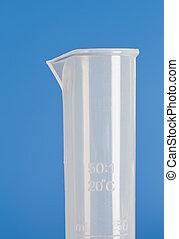 Plastic measuring cylinder