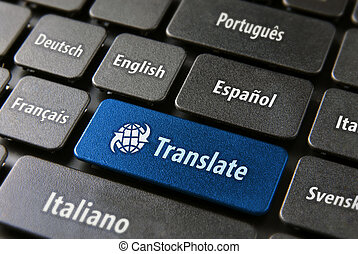 Online translation service concept - Multilingual...
