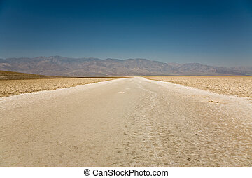 Badwater, deepest point in the USA, Saltsee mixed with...