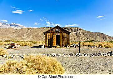 Jailhouse of Ballarat, a ghost town in Inyo County,...
