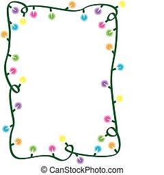 Christmas Light Border - A border made up of a multi-colored...