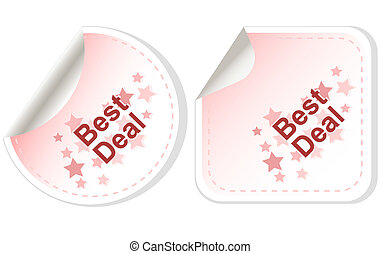 Best Deal stickers Button set card