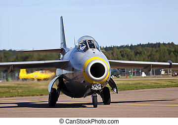 The flying barrel - A retro image of the swedish fighter. In...