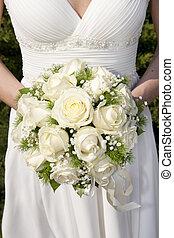 Bridal bouquet on wedding day