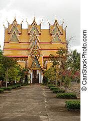 Thai church in temple in Sangkhlaburi