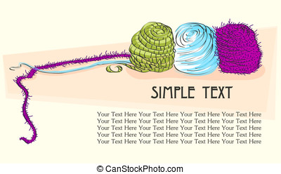 poster with yarn - yarn background for text