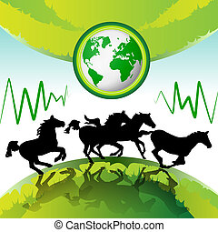 Running horses with Eco Earth