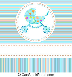Baby boy arrival announcement card - Baby boy arrival...