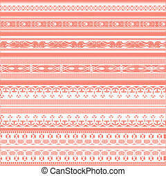 Lace Border - illustration of set of beautiful lace border...