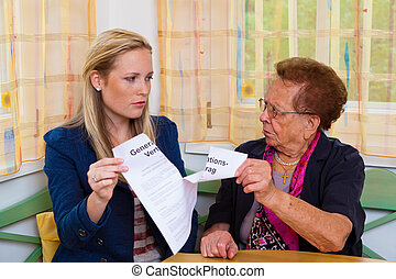 grandson and grandmother generation contract - a grandson...