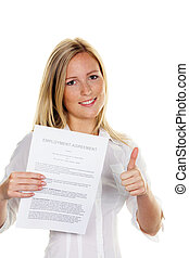woman with a job in the english language - a young woman...