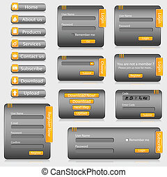 Web Template - illustration of set of web templates with...