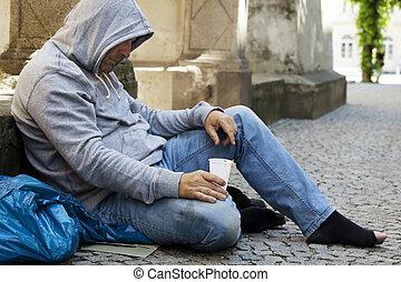 desempregado, desabrigado, mendigo