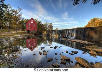 Mill on a Dam - Starrs Mill near Atlanta, Georgia