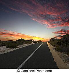 Asphalt road in countryside