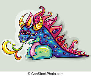 Dragon - Oriental New Year theme: Cute, fabulous, magical,...