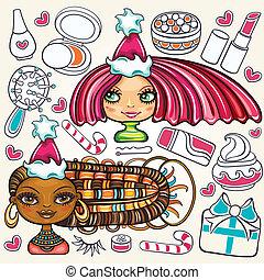 Christmas sale - Christmas shopping theme: vector...