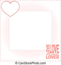 valentines background with red love - vector valentines...