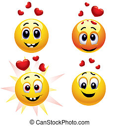 Smiley - Smiling balls falling in love