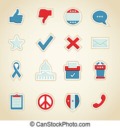 Political Icons - Collection of political icons and symbols...