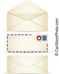 Retro Envelope - Retro-styled envelope illustration. EPS10....