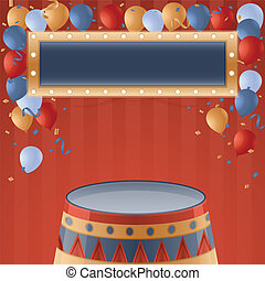Circus Party Background - Circus party background with copy...