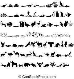 animals icon - quality of various animal silhouettes