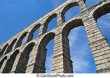 Aqueduct. - Segovia Aqueduct, Spain.