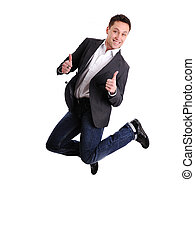 Celebrating success - Portrait of a excited male business...