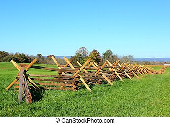 fence at gettysburg - long wood fence at gettysburg