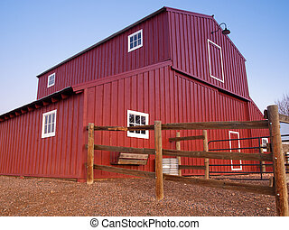 Old Red Barn at the Lakewood Heritage Center, Colorado.