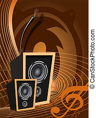 Abstract vector music design